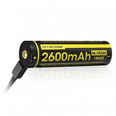 Akumulator Nitecore 18650 Micro USB NL1826R 2600mAh