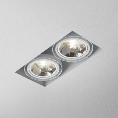 Lampa AQForm Squares 111 x 2 Trimless Wpuszczany Biały Struktura