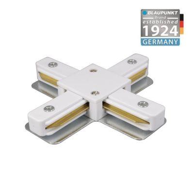 Konektor do szyn 1-fazowych krzyżowy X biały Blaupunkt KX1W