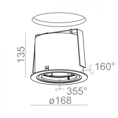 Lampa AQForm Ring 111 Recessed Biały Struktura