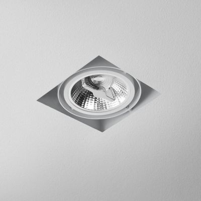 Lampa AQForm Squares 111 x 1 Trimless Recesed Biały Struktura