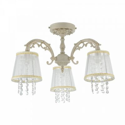 Lampa sufitowa Maytoni ARM020-03-W Omela Chandelier Cream-Gold